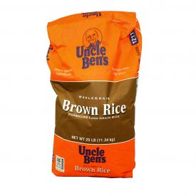Uncle Ben's Whole Grain Parboiled Brown Rice - 25lb