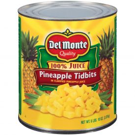 Del Monte Pineapple Tidbits In Juice 106oz.