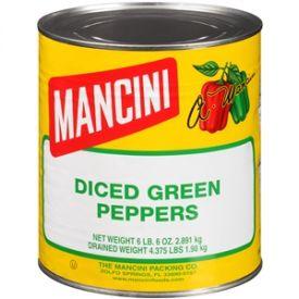 Mancini Diced Green Pepper - 102oz