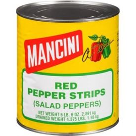 Mancini Red Pepper Strips Cans - 102oz