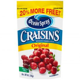 Ocean Spray Original Sweetened Dried Cranberry 6oz.