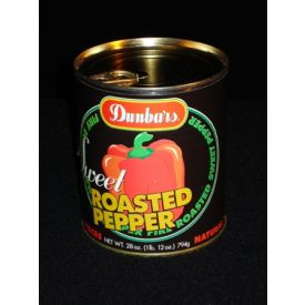 Dunbar Sweet Roasted Red Bell Peppers - 28oz