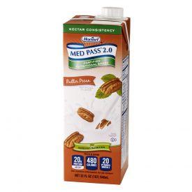 Med Pass 2.0 Shake Nectar Consistency Butter Pecan 32oz.