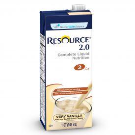 Nestle Resource 2.0 RTD Vanilla Flavored Malnutrition Liquid 32oz.