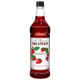 Monin Strawberry Flavored Syrup - 33.8oz