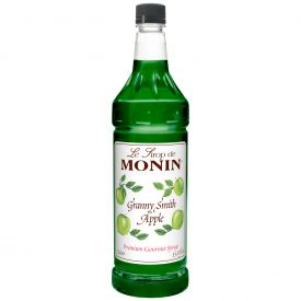 Monin Granny Smith Apple Syrup - 33.8oz.