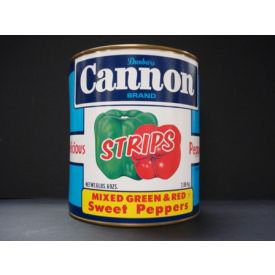 Cannon Mixed Green and Red Pepper Strips - 102oz