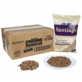 Santiago Vegetarian Refried Beans with Whole Beans Seasoned 28.1oz.
