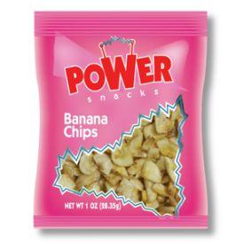 Power Snacks Dried Banana Chips 1oz.