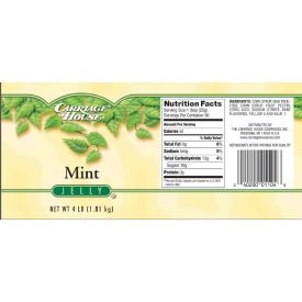Carriage House Mint Jelly 4lb.