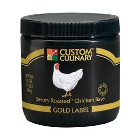 Custom Culinary Gold Label Roasted Chicken Savory Base - 20lb