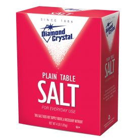 Diamond Crystal Table Plain Salt 4lb.