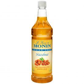 Monin Sugar-Free Hazelnut Syrup - 33.8oz.