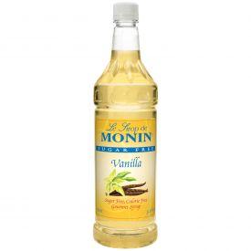 Monin Sugar-FreeVanilla Syrup - 33.8oz.