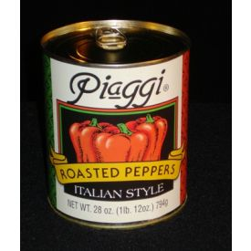 Piaggi Roasted Red Bell Pepper Pieces - 28oz
