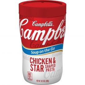 Campbell's Soup on the Go Chicken & Star Shaped Pasta Soup, 10.75 oz