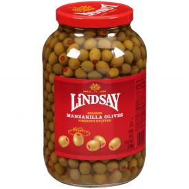 Lindsay Spanish Green Olives 84oz.