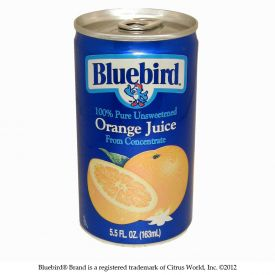Bluebird Orange Juice 5.5oz.