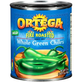 Ortega Fire Roasted Whole Green Chiles - 27oz