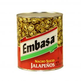 Embasa Nacho Sliced Jalapenos - 98oz