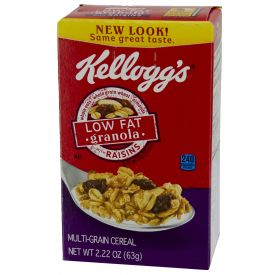 Kellogg's Low Fat Granola with Raisins Single Serve Packs 2.22oz.