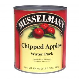 Musselman's Chipped Apples in Water 104oz.