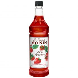 Monin Wild Strawberry Syrup - 33.8oz.