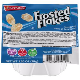 Malt O Meal Frosted Flakes Cereal Bowls 1oz.