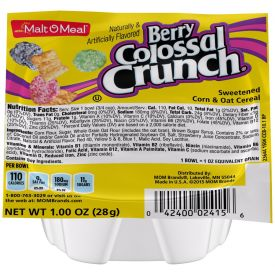 Malt O Meal Berry Colossal Crunch Cereal Bowls 1oz.