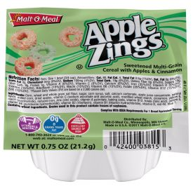 Malt O Meal Apple Zings Cereal Bowls .75oz.