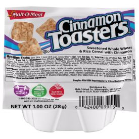 Malt O Meal Cinnamon Toasters Cereal Bowls 1oz.