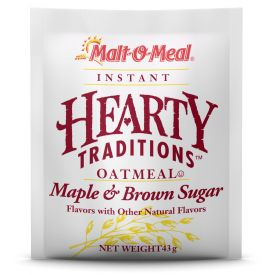 Malt O Meal Hearty Traditions Instant Oats Maple & Brown Sugar 1.51oz.