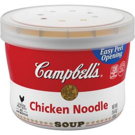 Campbell's Chicken Noodle Soup Bowl - 15.4 oz, Red & White