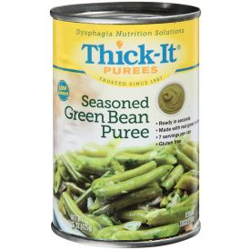 Thick-It RTU Low Fat Seasoned Green Beans Puree 15oz.