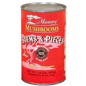 Monterey Blue Label Mushroom Stem and Pieces - 100oz