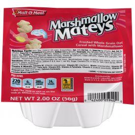 Malt O Meal Marshmallow Mateys Cereal Bowls 2oz.