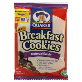 Quaker Oatmeal Raisin Breakfast Cookies - 1.69oz