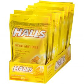 Halls Menthol Honey Lemon Cough Suppressants 25ct