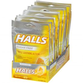 Halls, Sugar Free Honey Lemon Cough Suppressants 25ct