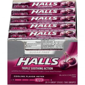 Halls Sugar Free Black Cherry Flavor Cough Suppressants