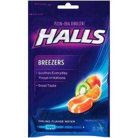 Halls Breezers Tropical Chill Cough Suppressants - 25ct