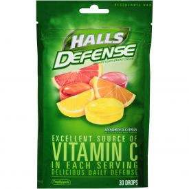 Halls Defense Assorted Citrus Drops - 30ct