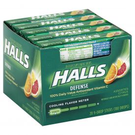 Halls Defense Assorted Citrus Drops 9ct