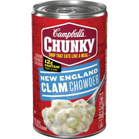 Campbell's Chunky New England Clam Chowder Soup, 18.8 oz