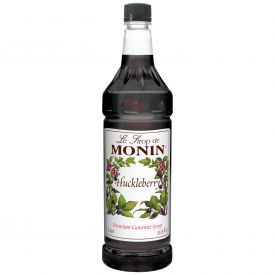 MONIN Huckleberry Flavored Syrup 33.8oz