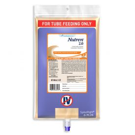 Nestle Nutren 2.0 Malnutrition Tube Fed Balanced High Cal Liquid 33.8oz.