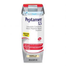Nestle Peptamen 1.5 GI RTD Complete High Cal Liquid Nutrition Vanilla 8.45oz.