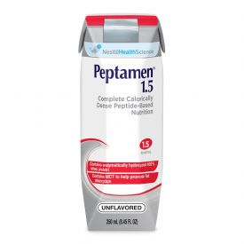 Nestle Peptamen 1.5 GI RTD Complete High Cal Liquid Nutrition Unflavored 8.45oz.
