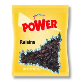 Power Snacks Thompson Seedless Raisins 1.3oz.