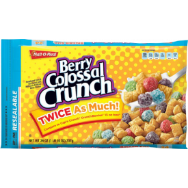 Malt O Meal Berry Colossal Crunch Cereal Bulk Pack 44oz.